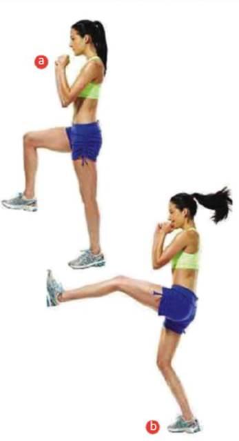 Description: Jump kick