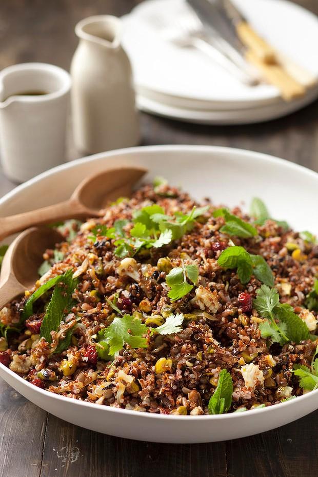 Cauliflower And Quinoa Salad With Spicedorange Lamb