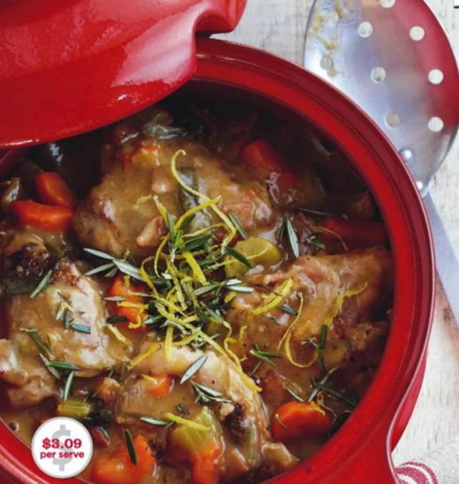 Chicken And Vegie Casserole With Rosemary Gremolata