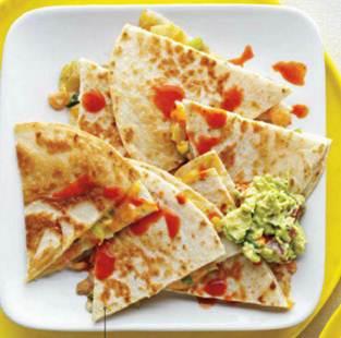 Description: Description: Description: Description: Super quick green chili and shrimp quesadillas