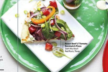 Description: Description: Description: Description: Tomato and grilled beef pizza sandwich