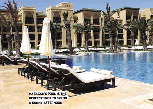Description: Mazagan's pool is the perfect spot to spend a sunny afternoon