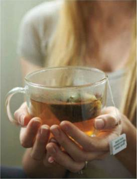 Description: A non-caffeine cup of tea can bring you the sound sleep.