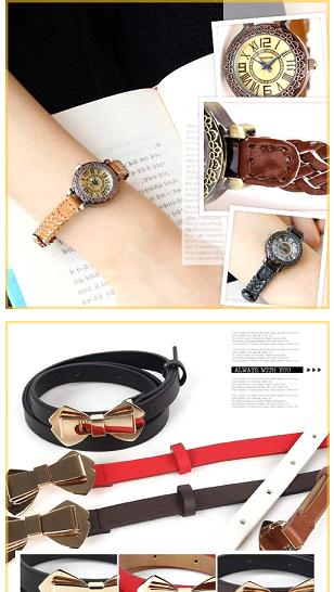 Description: Belt and watch, attractive points