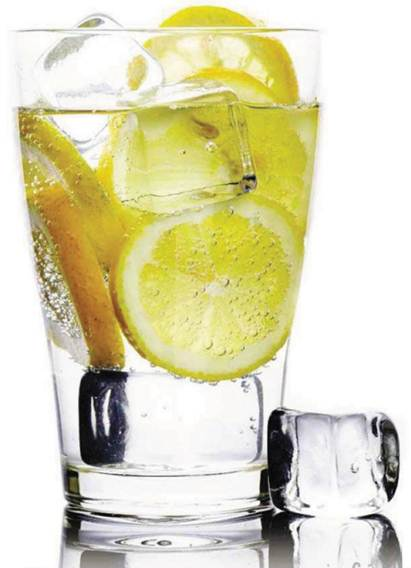 Description: Quaffing ice cold water with a slice of lemon will raise your metabolism and flush out toxins.