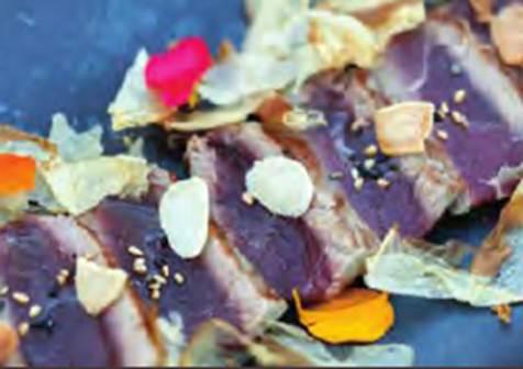 Description: A grilled Almadraba red tuna