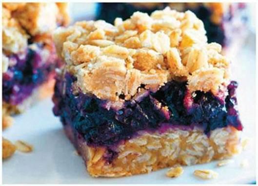 Description: Blueberry Oatmeal Squares