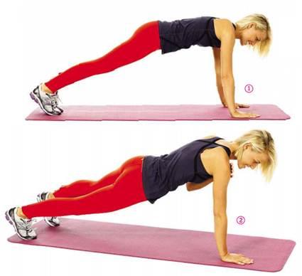 Description: Plank shoulder-touch