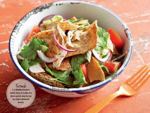 Description: Description: Fattoush is a Middle Eastern salad