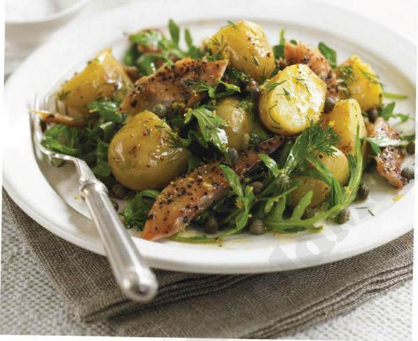 Description: Mackerel, rocket and potato salad