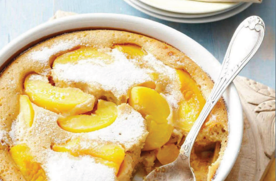 Description: Description: Peach clafoutis