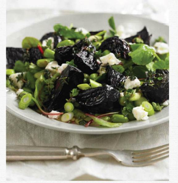 Description: Beetroot and broad bean salad