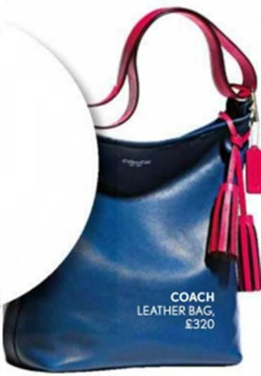 Description: Coach – leather bag, $480