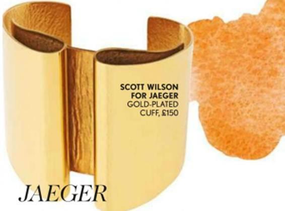 Description: Scott Wilson for Jaeger – Gold-plated cuff, $225