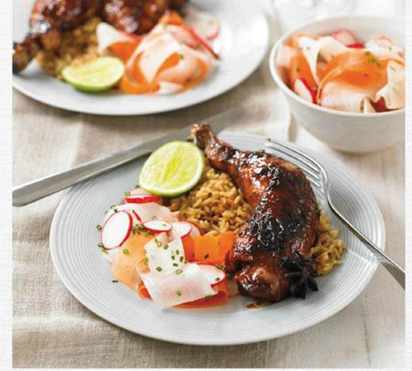 Description: Char siu chicken with salad