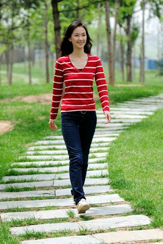 Description: Encourage her to walk and practice exercises follow the doctor's instruction.