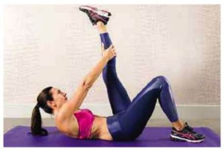 Description: Lying hamstring stretch