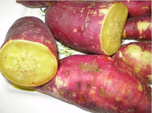 Description: Yams contain less starch than rice, so eat yams instead of rice to lose weight
