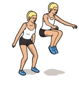 Description: Tuck jumps