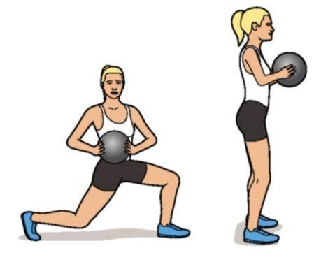Description: Backward lunge with twist