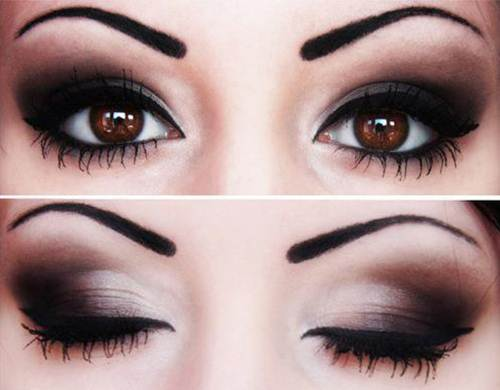 Description: By using dark eye shadow, eye liner and mascara, your face will look thinner.