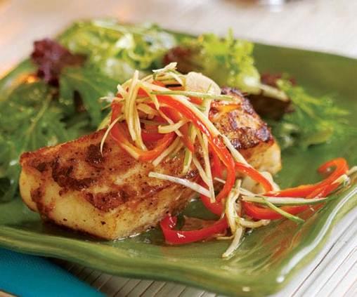 Description: Cholesterol-controlling diet should include generous portions of fish.