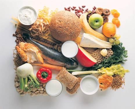 Description: A calcium-rich diet can help prevent osteoporosis.