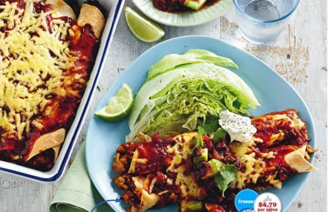 Smoky Chicken Enchiladas With Black Bean Salsa