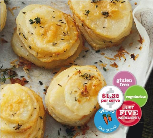Crispy Parmesan And Thyme Potato Stacks