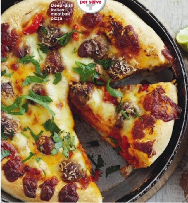 Deep-Dish Italian Meatball Pizza