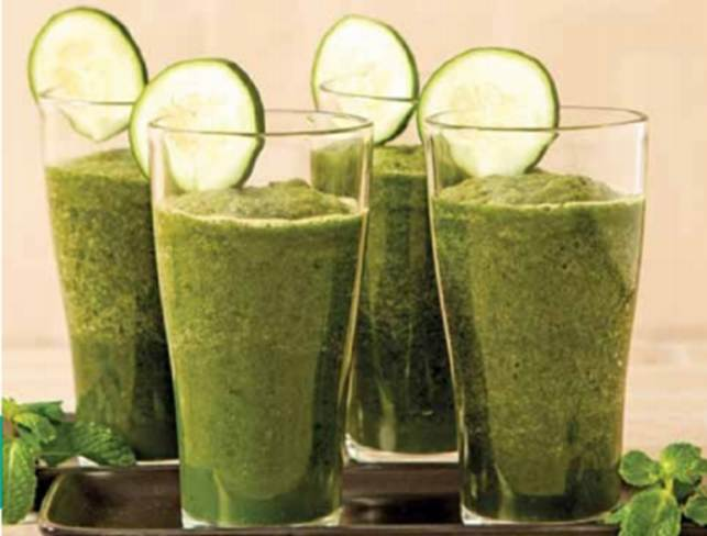 Healthy Green Cucumber And Mint Shake