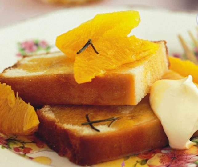 Honey, Orange And Rosemary Syrup Cake
