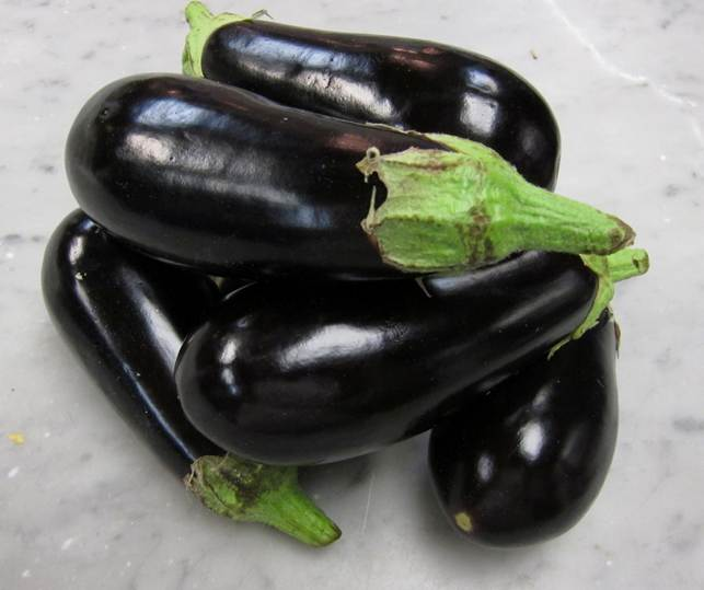 5 local eggplants
