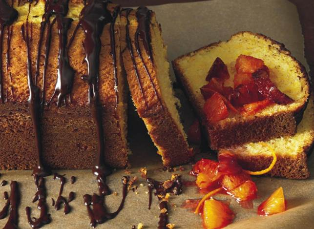 Orange-Scented Olive Oil Cake With Orange Compote And Ganache