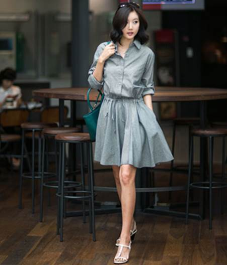 Long-sleeved dresses are appropriate chilly weather in early fall.