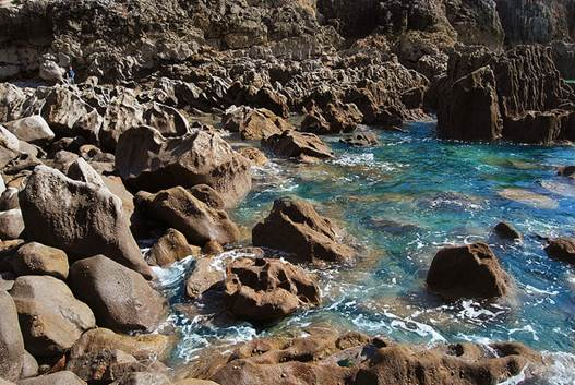 This time from a little sheltered cove called Shrinkle Haven.