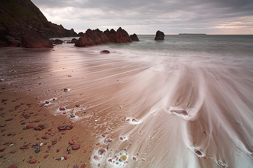 A stunning little beach at Westdale Bay will reveal views to the offshore island of Skokholm