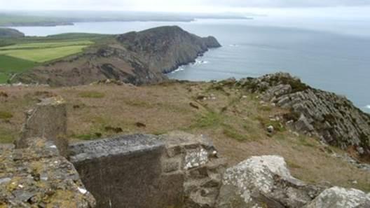 The summit of Garn Fawr yields great views of the coastline leading back towards St. David's Head