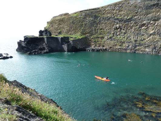 Blue Lagoon at Abbereiddy, Pembrokeshire Coast National Park