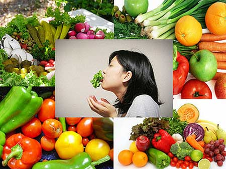 Eat more vegetables and fruits to protect cardiovascular systems.