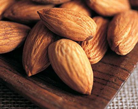 Almond is a vitamin-E-rich source.