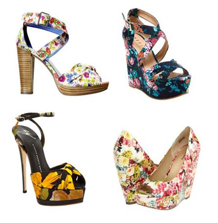 Flower shoes bring lively and lovely beauty.
