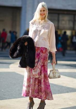 Eye-catching with patterned maxi