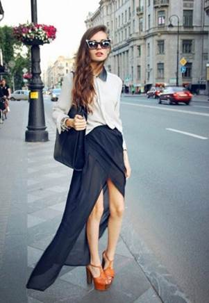 Shrimp-tail maxi is fashion trend of this summer.