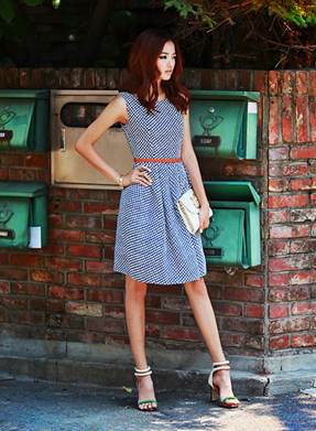 You will be elegant with classic dress