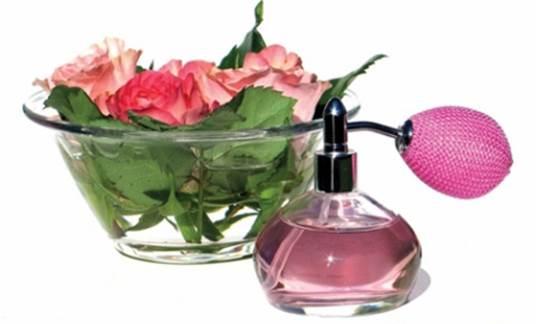 Put perfume in dark glass bottles