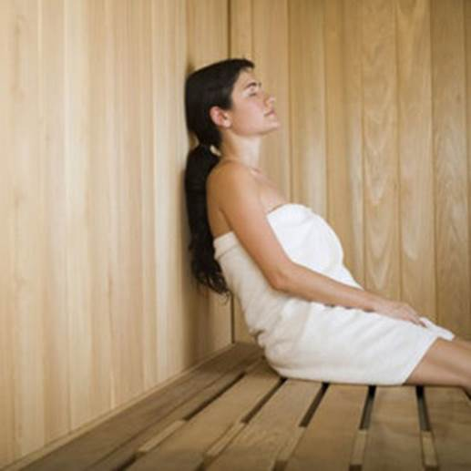Pregnant women should not take sauna.