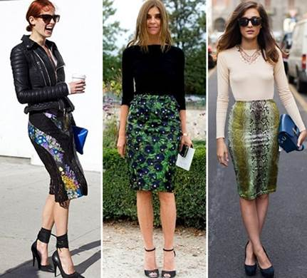 Pencil skirt is not just office fashion, it can also be used as street fashion.