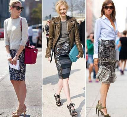 Escape from the rigid definition with shirt, pencil skirt can combine with many kinds of clothes.