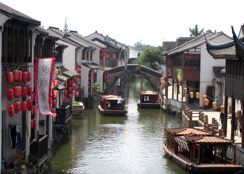 the ancient Suzhou town